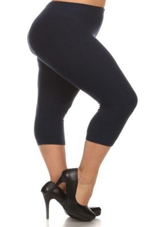 Solid Black Capri leggings