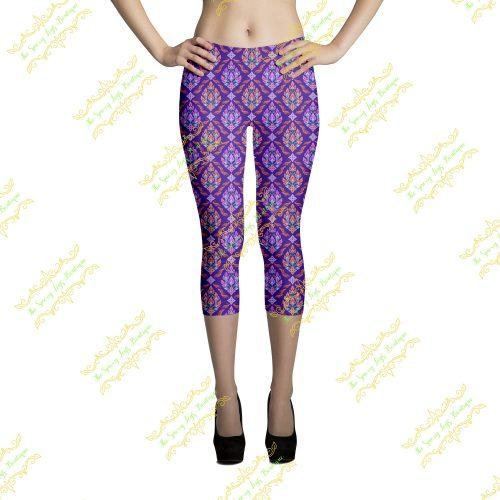 Thai Flowers Capri leggings