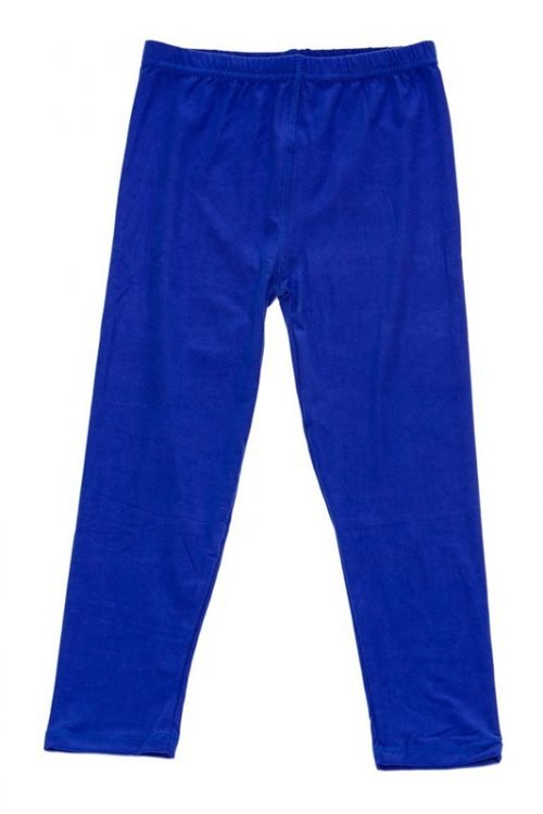 Solid Royal Blue Kids Leggings