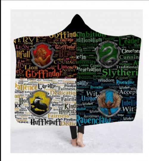 Hogwarts Houses Hooded Blanket
