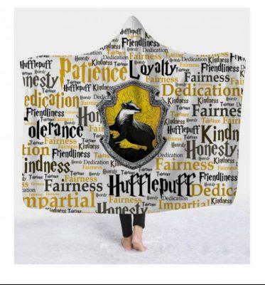 Hufflepuff Hooded Blanket