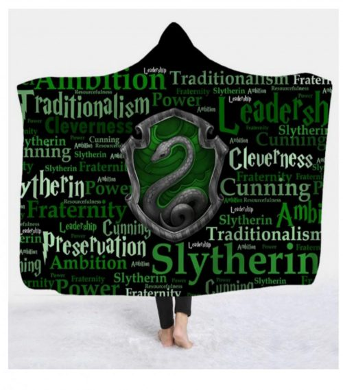 Slytherin Hooded Blanket
