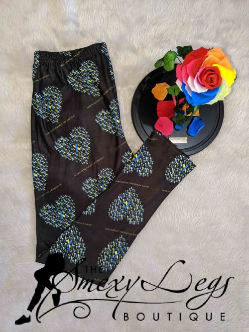 Down Syndrome Ribbons Full Length Regular Band Printed Leggings