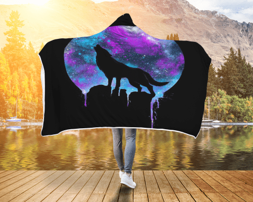 Neon Howl Hooded Blanket