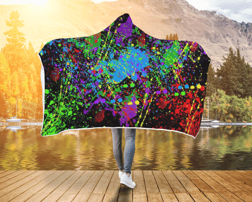 Splatter Time Hooded Blanket