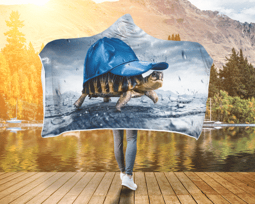 Turtle Shade Hooded Blanket