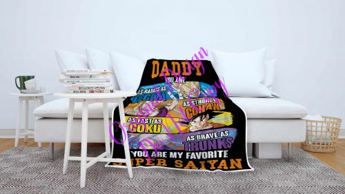 Saiyan Dad Big Blanket
