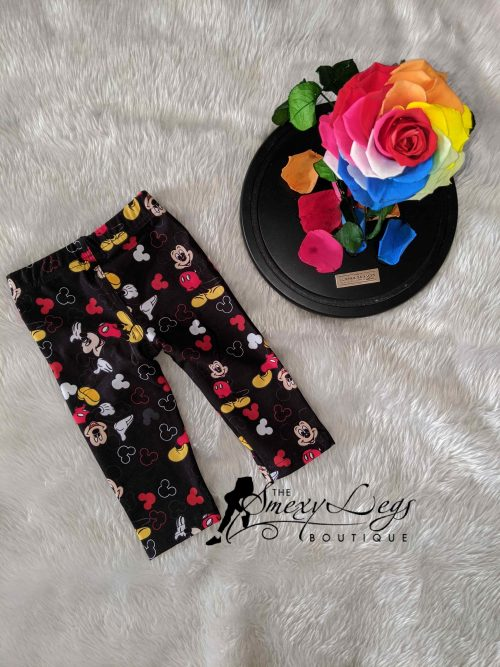 Little Ones Happy Mouse Printed Baby Leggings