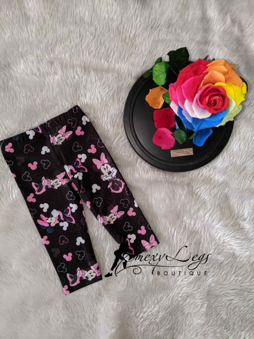 Little Ones Mouse in Pink Printed Baby Leggings