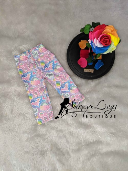 Little Ones Dark Unicorn Printed Baby & Toddler Leggings