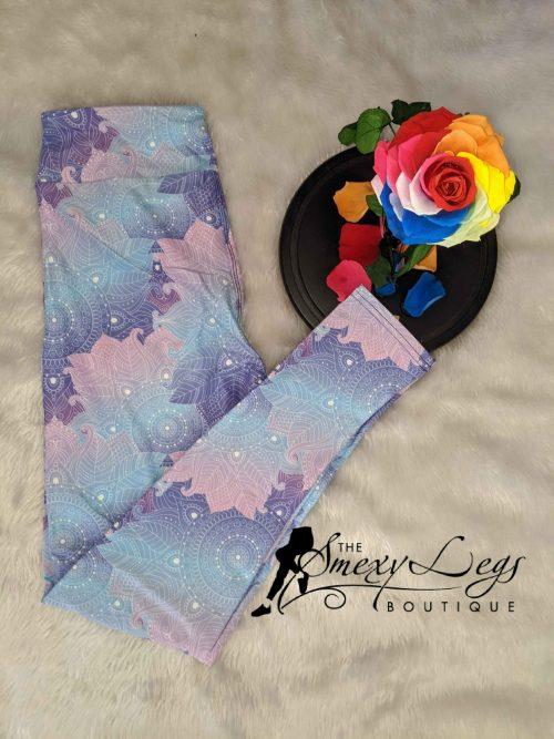 DayDream Mandala Printed Full Length Yoga Band Leggings