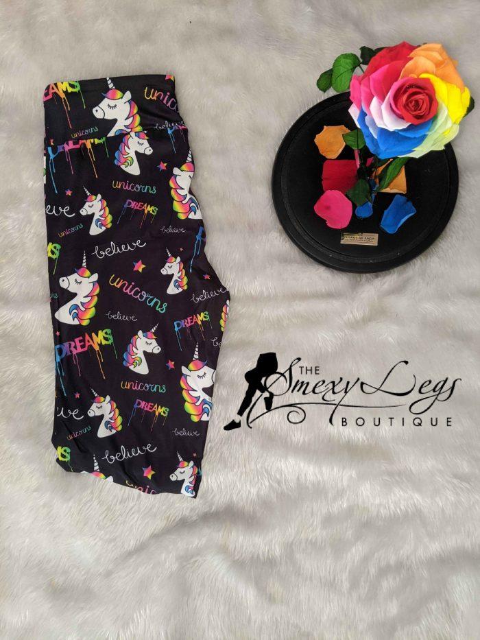 Drip Dreams Yoga Band Capri Length Printed Leggings