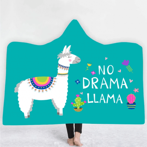 Anti-Drama Llama Hooded Blanket