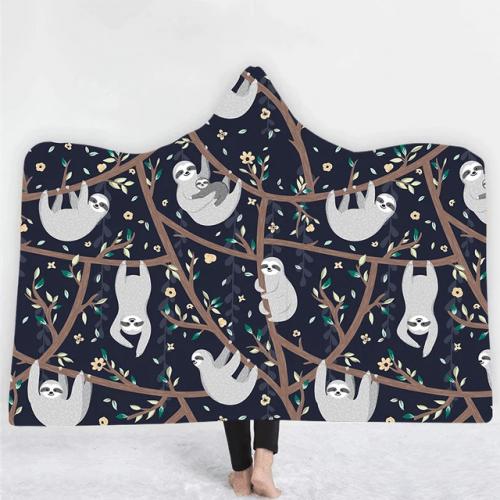 Slothmageddon Hooded Blanket