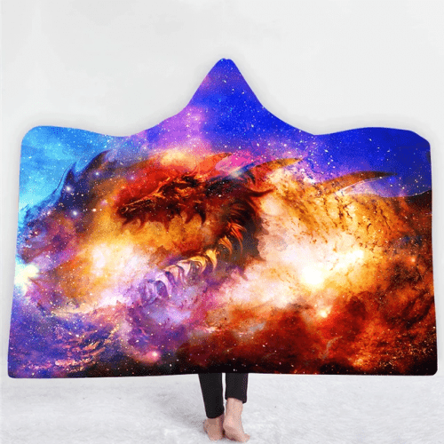 Inferno Dragon Hooded Blanket