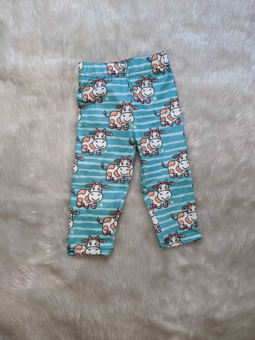 Smiling Cow Printed Baby & Toddler Leggings