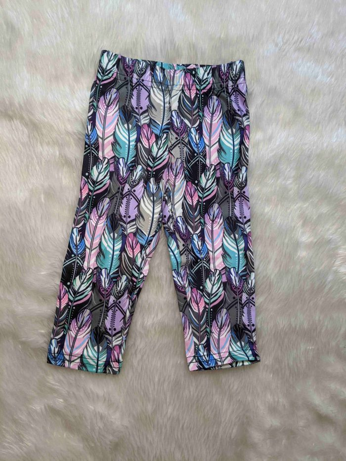 Feather Fanfare Printed Baby & Toddler Leggings
