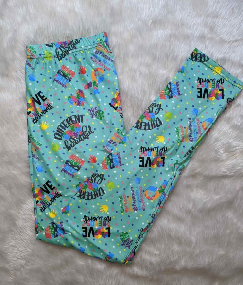 Autism Hero Printed Full Length Regular Band Leggings