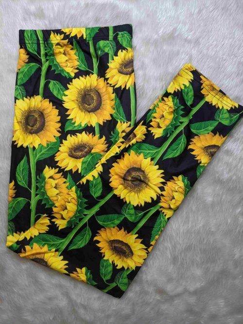 Sunflower Spring Full Length Regular Band Printed Leggings