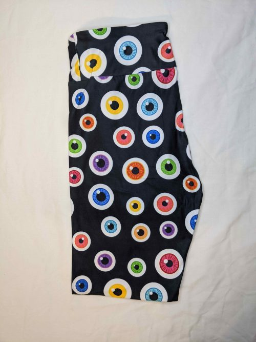 Eye See you Printed Capri Length Yoga Band Leggings