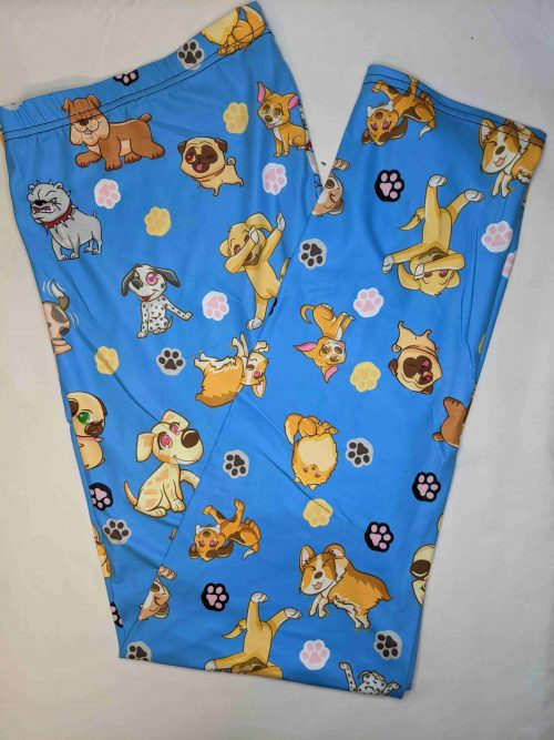 Happy Pups Full Length Regular Band Printed Leggings
