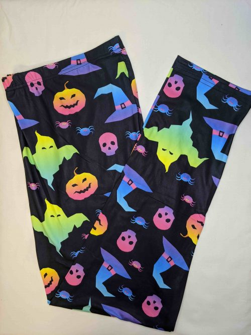 Fluro Fright Full Length Regular Band Printed Leggings