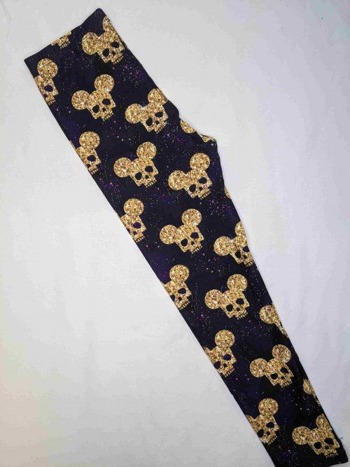 Mickey Skull Printed Kids Leggings