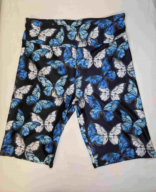 Crystal Light Butterflies Yoga Band Printed Bike Shorts