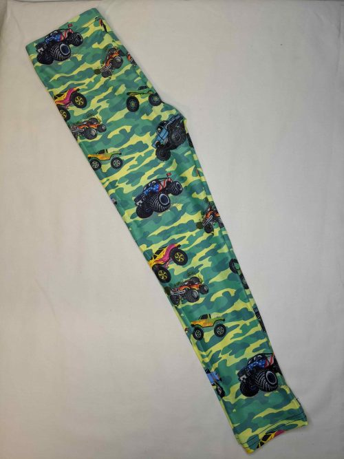 Monster Truck Printed Kids Leggings