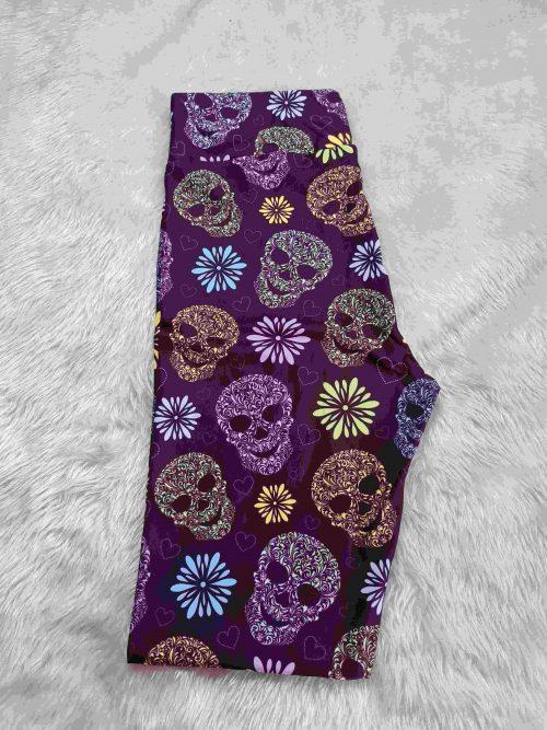 Mandala Smiles Printed Capri Length Yoga Band Leggings