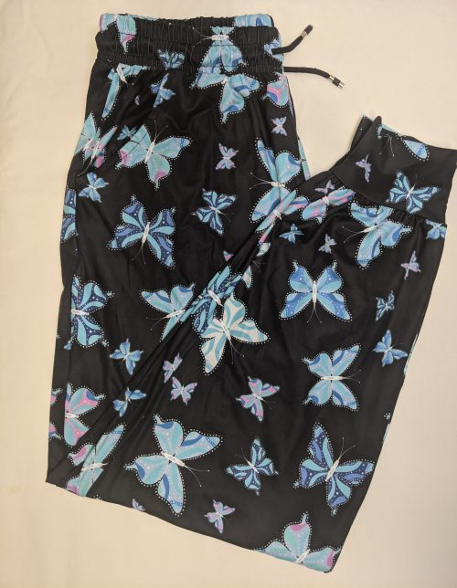 Butterfly Dots Printed Full Length Joggers