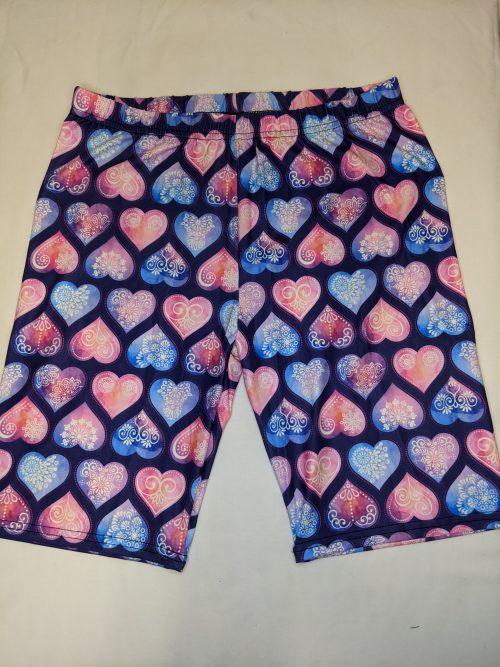 Henna Hearts Regular Band Printed Bike Shorts