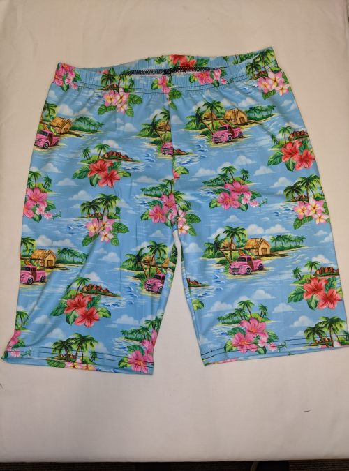 Tropical Island Regular Band Printed Bike Shorts
