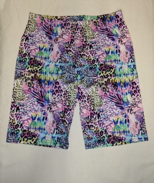 Chameleon Scales Regular Band Printed Bike Shorts