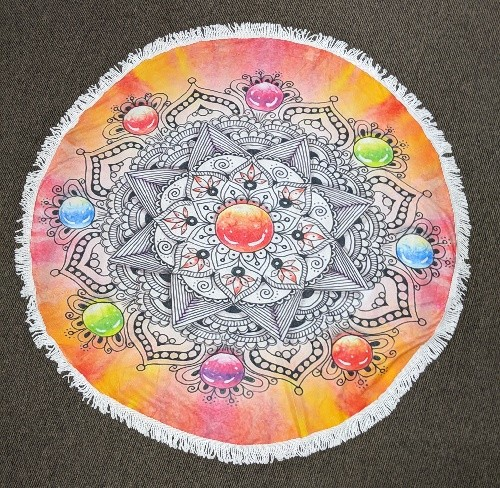 Mandala Star Round Beach Towel