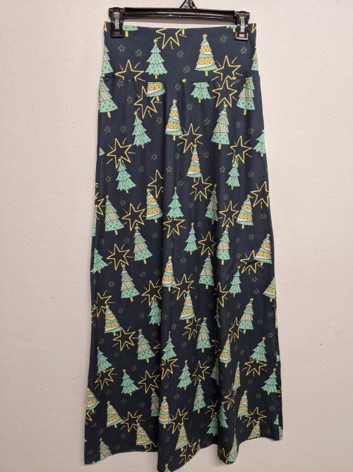 Stary Christmas Printed Maxi Skirt