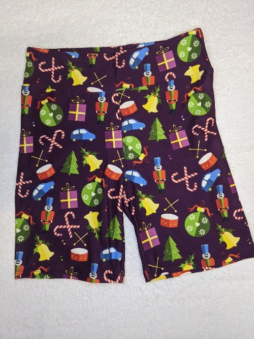Classic Christmas Toys Yoga Band Printed Bike Shorts