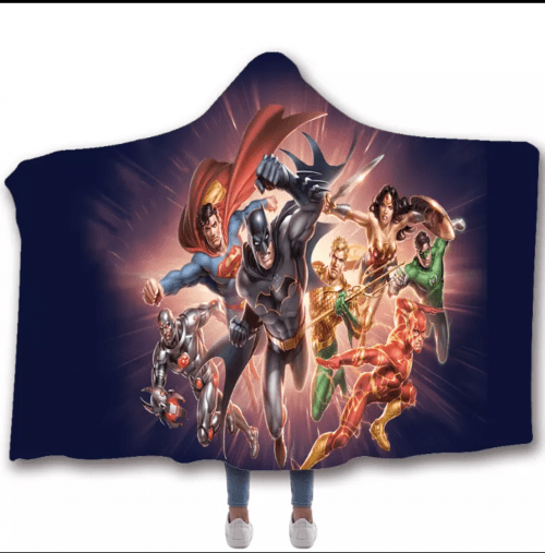 Justice League Hooded Blanket