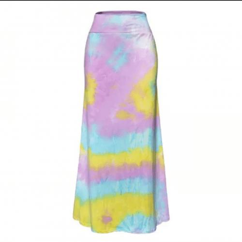 Pastel Pink Tye Dye Maxi Skirt