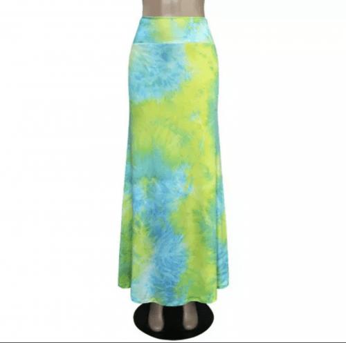 Divine Lime Maxi Skirt
