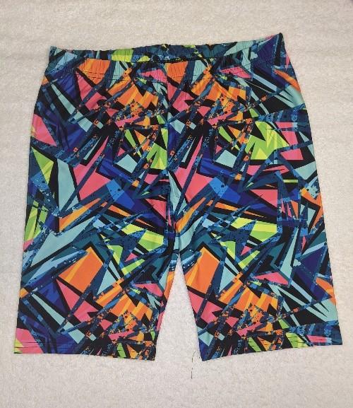 Abstract Graffiti Regular Band Printed Bike Shorts