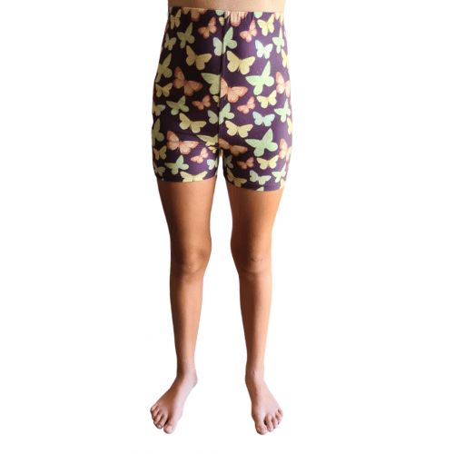 Butterfly Dimmer Printed Kids Bike Shorts