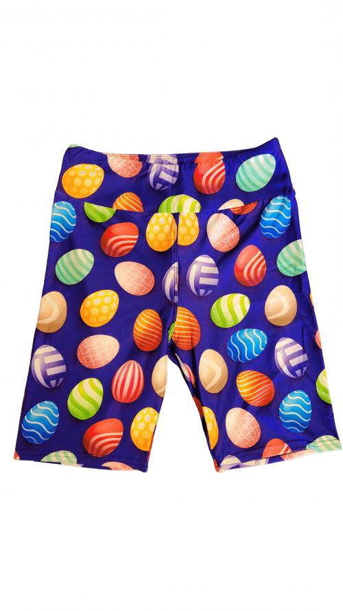 Easter Blues Yoga Band Printed Bike Shorts