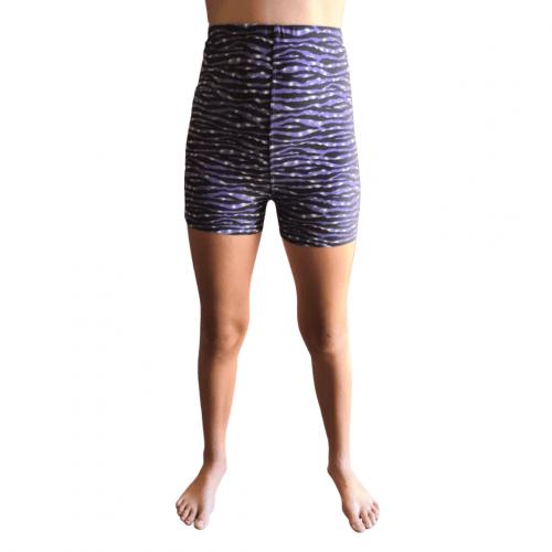 Purple Zebra Printed Kids Bike Shorts