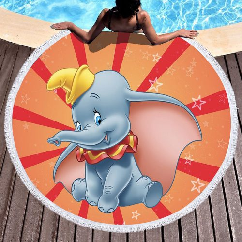 Dumbo Round Beach Towel