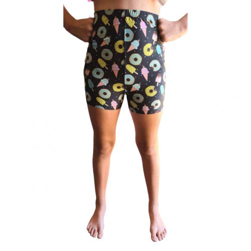 Sweet Time Munch Printed Kids Bike Shorts