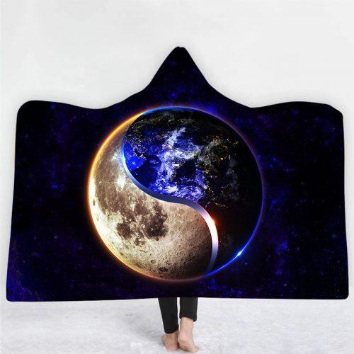Planet Peace Hooded Blanket