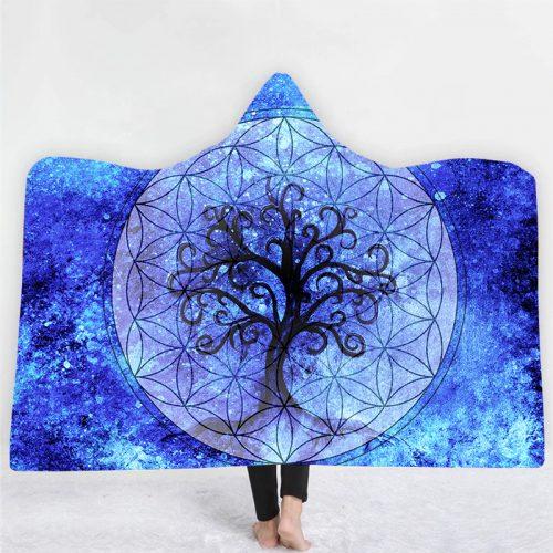 Moon Tree Hooded Blanket
