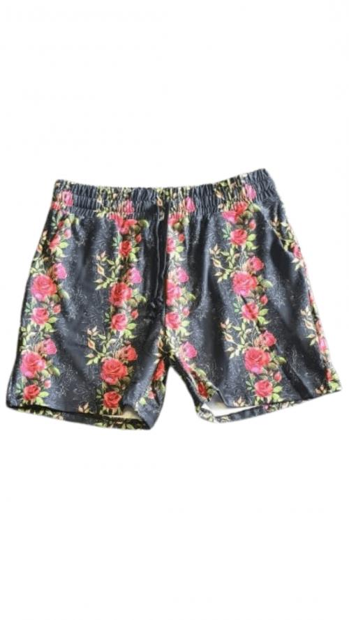 Rose Tattoo Printed Jogger Shorts