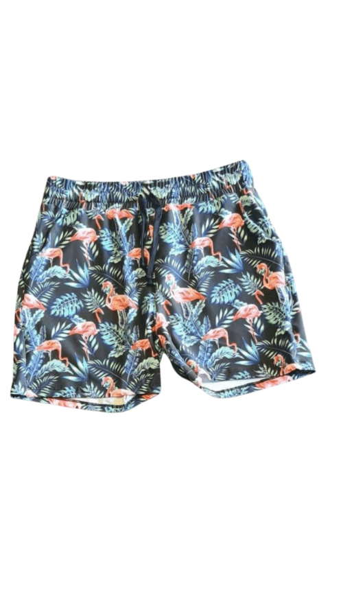 Flamingo Fern Printed Jogger Shorts